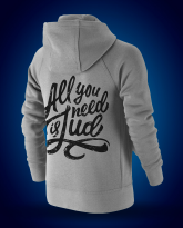 "Chaqueta Algodón ""All you need"" Gris Junior"